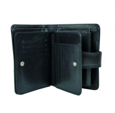 Unisex kožená peňaženka vyrobená z prírodnej kože. Kvalitné spracovanie a talianska koža. Ideálna veľkosť do vrecka a značková kvalita pre náročných (10)