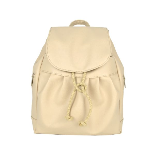 Dámsky kožený módny ruksak 8665u v bežovej farbe (2)