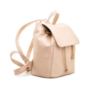 Dámsky módny kožený ruksak 8659k v bežovej farbe (1)