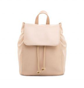Dámsky módny kožený ruksak 8659k v bežovej farbe (2)