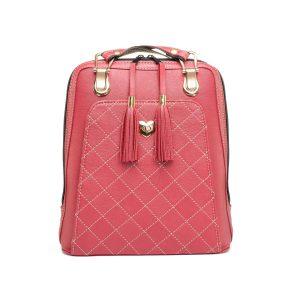 Kožený ruksak z pravej hovädzej kože č.8668 v červenej farbe (1)