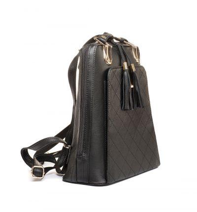 Kožený ruksak z pravej hovädzej kože č.8668 v čiernej farbe (1)