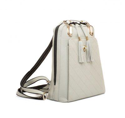 Kožený ruksak z pravej hovädzej kože č.8668 v šedej farbe (1)