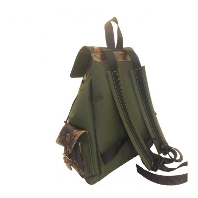 Textilný športový ruksak 8673 s popruhom v zelenej farbe (1)