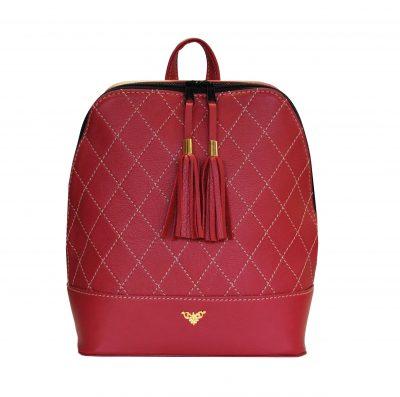 Štýlový dámsky kožený ruksak do ktorého zmestíte všetky svoje potrebné veci ako knihy, obálky, tablet, mobilný telefón a menší notebook