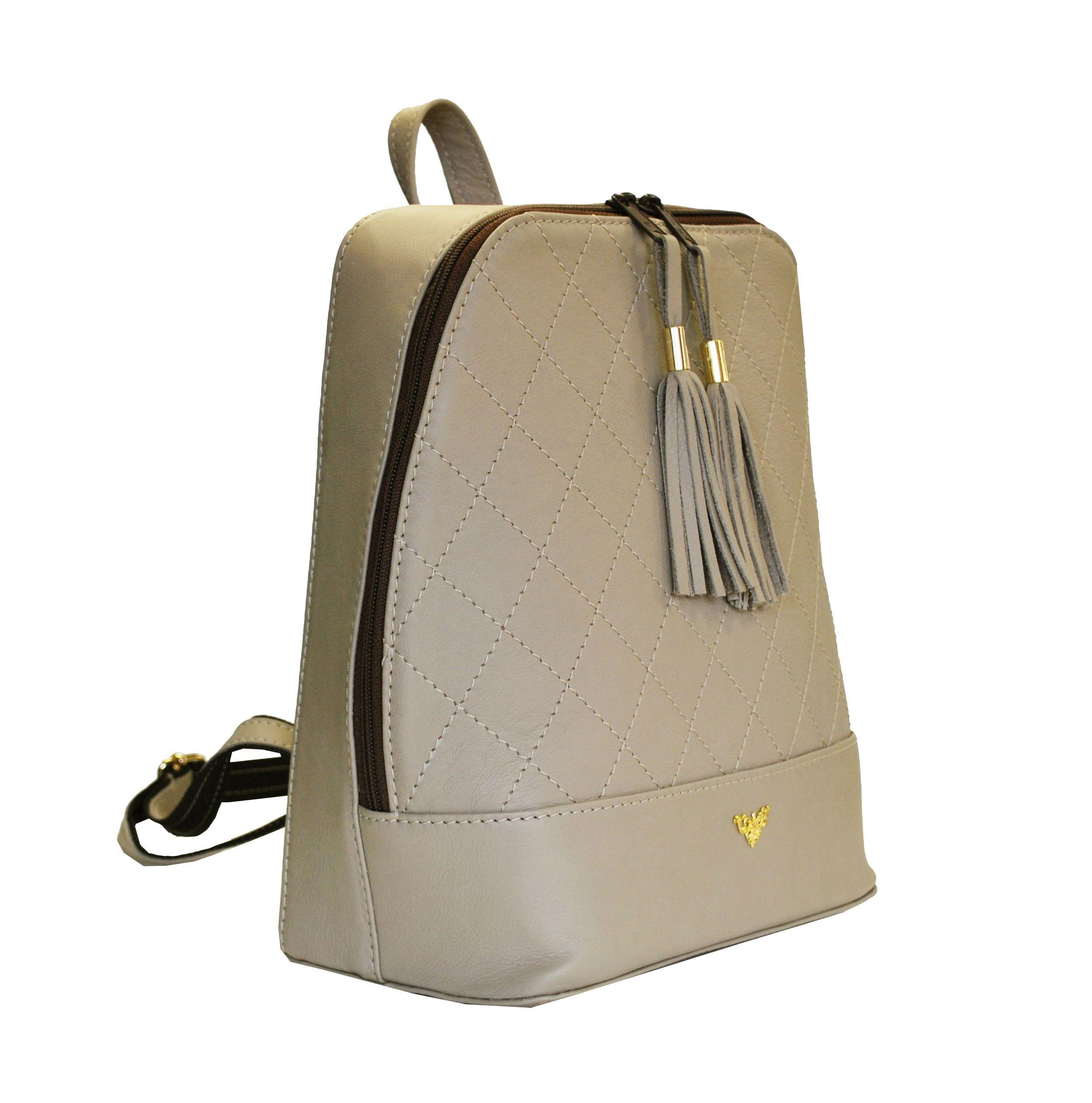 6565e0ba3762 Štýlový dámsky kožený ruksak z prírodnej kože v šedej farbe