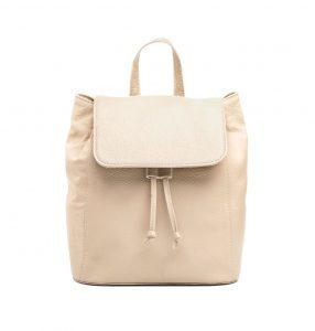 Moderný kožený ruksak z pravej hovädzej kože č.8659 v bežovej farbe (1)