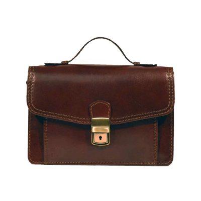 Luxusná kožená etuja č.7847, viacúčelové púzdro v hnedej farbe (3)