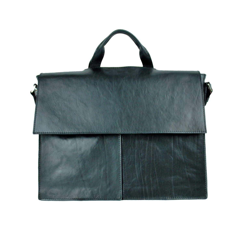 3dddb43d40 Kožená aktovka z prírodnej kože č.8388 v čiernej farbe (2)