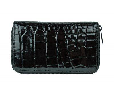 Lakovaná kožená peňaženka č.8627 v čiernej farbe. Nezabúdajte, že kvalitná peňaženka vytvára o vás predstavu na ktoromkoľvek mieste kde ju použijete (1)