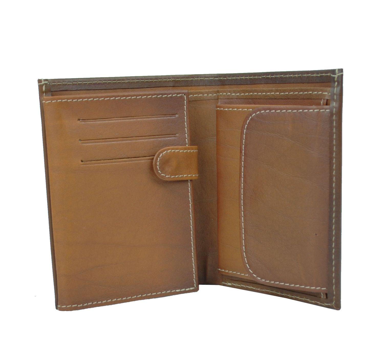 Luxusná kožená peňaženka č.8560 v hnedej farbe (3)