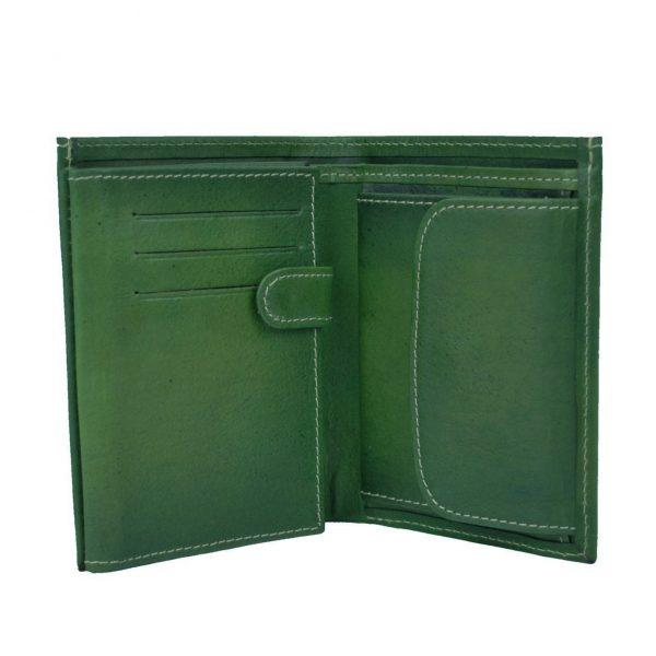 Luxusná kožená peňaženka č.8560 v zelenej farbe (3)