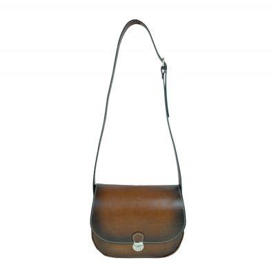 Originálna Kožená kabelka, ručne tieňovaná (5)