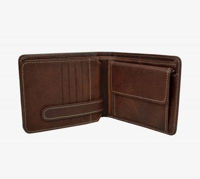 Peňaženka z prírodnej kože č.7992 v tmavo hnedej farbe (2)