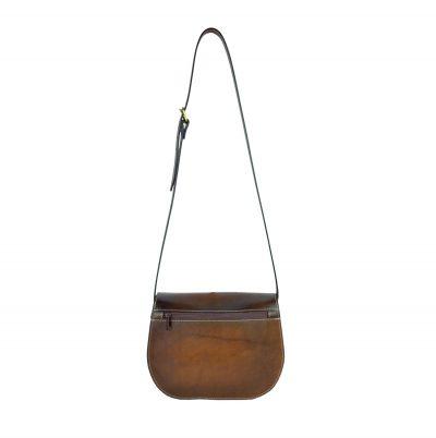 Unikátna Kožená kabelka, ručne tieňovaná, uzatváranie - skrytý magnet (2)