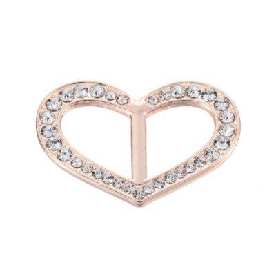 Šperk na šatku v tvare srdiečka v zlatej farbe (2)