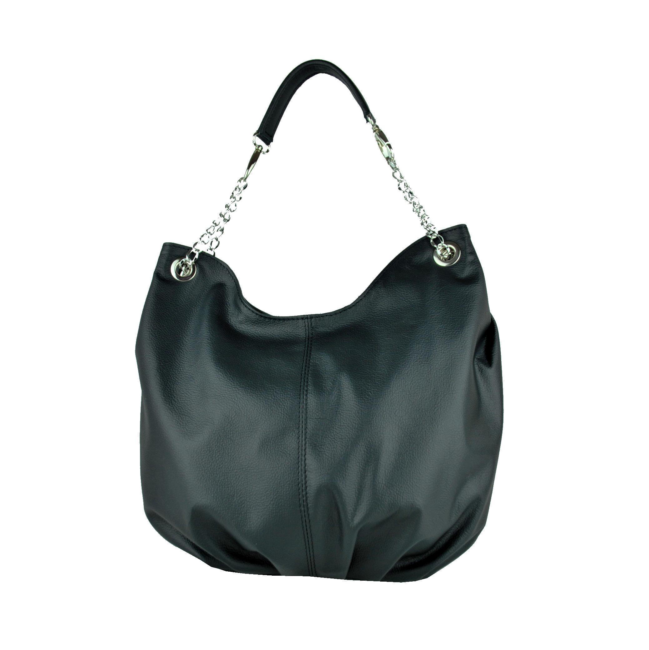 735ad1226d Dámska štýlová kožená kabelka v čiernej farbe (2)