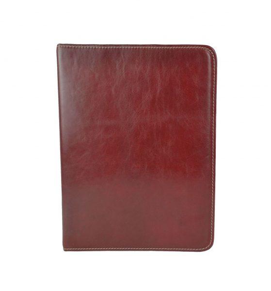 Elegantná kožená spisovka č.8673 v bordovej farbe (2)