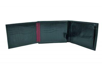 Elegantná peňaženka z pravej kože č.8552 v čiernej farbe. Len u nás Vám ponúkame krásne a dizajnovo moderné dámske a pánske kožené peňaženky (3)