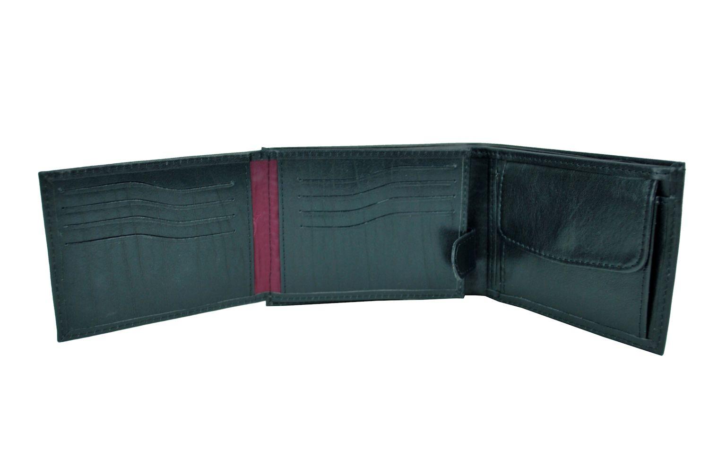 ed3cfb5da Elegantná peňaženka z pravej kože č.8552 v čiernej farbe