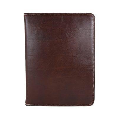 Elegantná kožená spisovka č.7673 v hnedej farbe