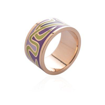 Exkluzívna brošňa v podobe prsteňa v zlatej farbe - vzor 10