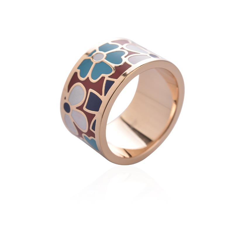 Exkluzívna brošňa v podobe prsteňa v zlatej farbe - vzor 12