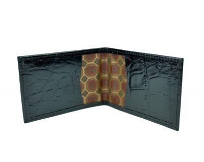 Kožené púzdro na karty a vizitky, hadina v čiernej farbe (1)