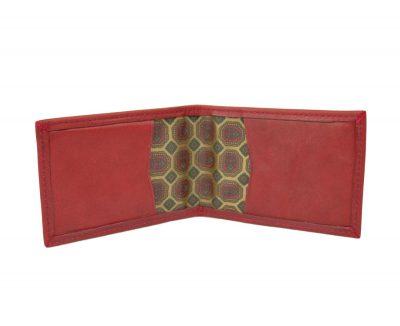 Kožené puzdro na platobné karty v červenej farbe (1)