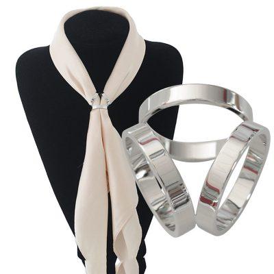 Luxusný troj-prstenec v striebornej farbe (2)