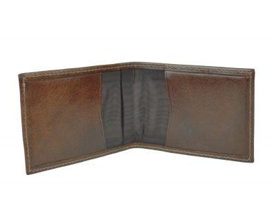 Púzdro z prírodnej kože na platobné karty, doklady a vizitky, hnedá farba (1)