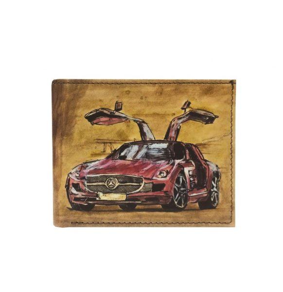 Ručne maľovaná peňaženka 8552 s motívom Mercedes