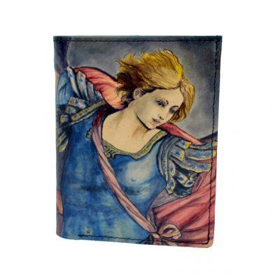Ručne-maľovaná-peňaženka-8560-s-motívom-Guido-Reni-–-Archangel
