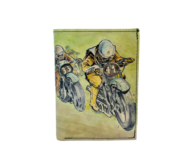 Ručne maľovaná peňaženka 8560 s motívom Motocross