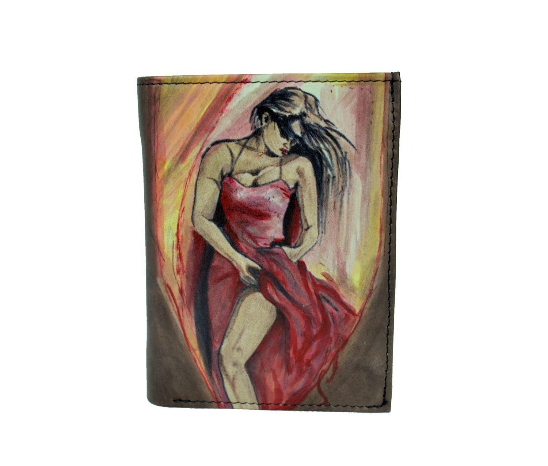 Ručne maľovaná peňaženka 8560 s motívom Tanečnice