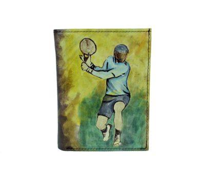 Ručne maľovaná peňaženka 8560 s motívom Tenistu