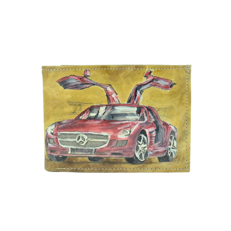 b570b6b8e4 Ručne maľovaná peňaženka 8552 s motívom Mercedes
