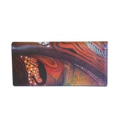 Ručne-maľovaná-peňaženka-7757-s-motívom-žena-Abstrakt