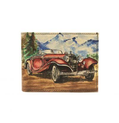 Ručne-maľovaná-peňaženka-8406-s-motívom-Veterán-Mercedes