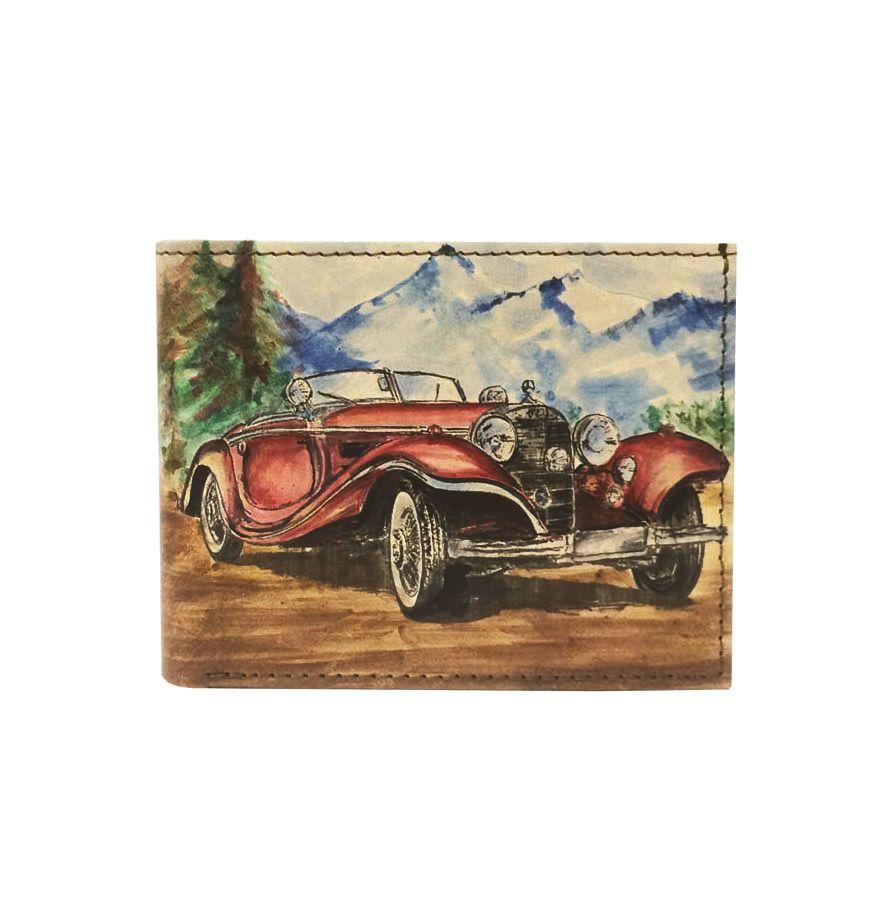 Ručne maľovaná peňaženka 8406 s motívom Veterán Mercedes