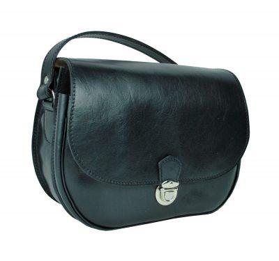 Rustikálna kožená kabelka, ručne tieňovaná, čierna farba je vyrobená z prírodnej triesločinenej usne z ručným natieraním a následným tieňovaním krajov. (1)