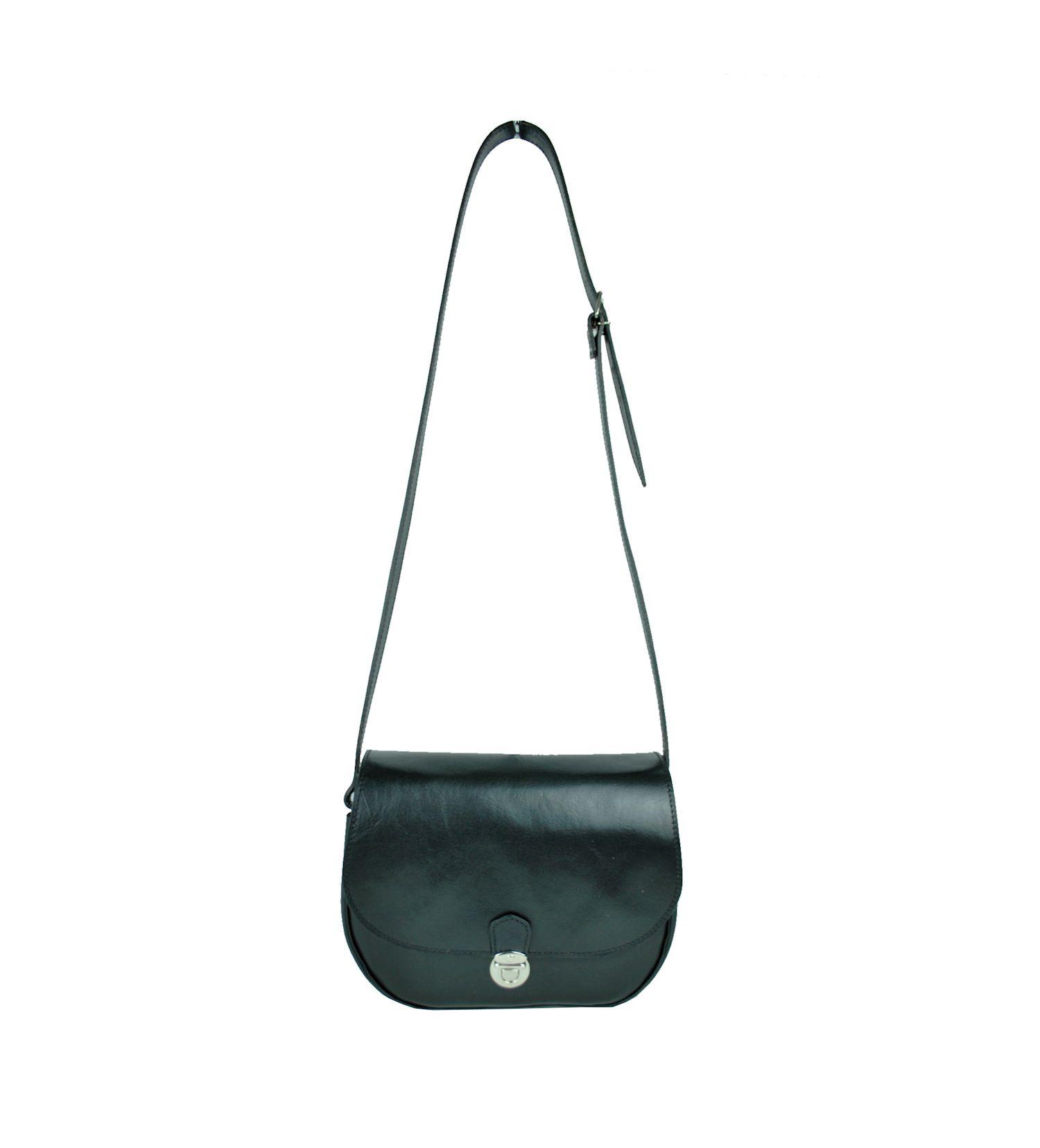 Rustikálna kožená kabelka, ručne tieňovaná, čierna farba je vyrobená z prírodnej triesločinenej usne z ručným natieraním a následným tieňovaním krajov. (2)