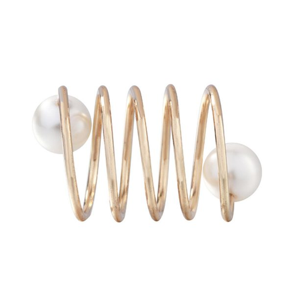 Módna brošňa na šatku alebo šál s imitáciou periel (4)