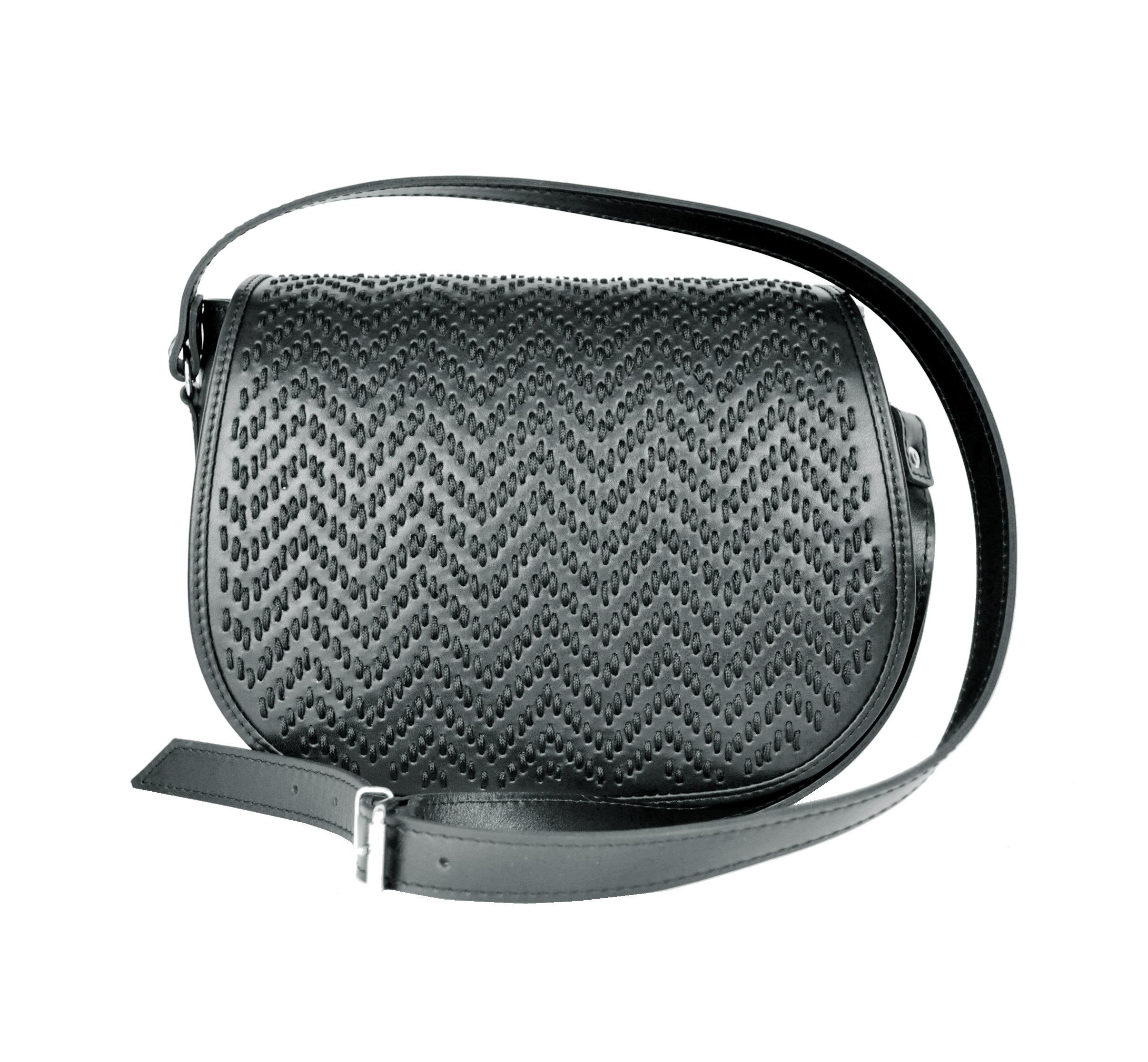 Ručne vyšívaná lovecká kabelka z pravej kože, skrytý magnet (1)