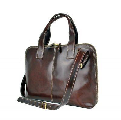 Dámska kožená kabela vhodná na formát A4, dámska kabelka, kabelka z kože (2)
