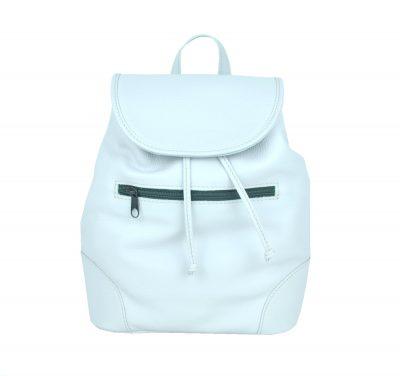 Kožený batoh v perlovej farbe (jemne sivá) (1)