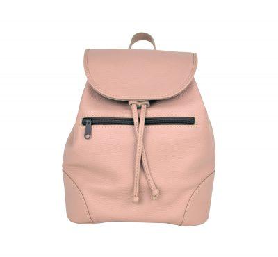 Kožený batoh vo svetlo fialovej farbe (4)