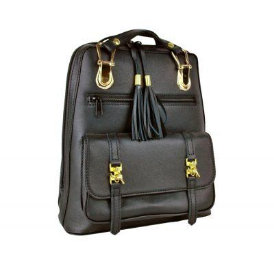 unisex ruksak, prírodný batoh, na cestovanie a turistiku, ruksak z kože, pánsky a dámsky batoh, čierny ruksak, čierny batoh (2)