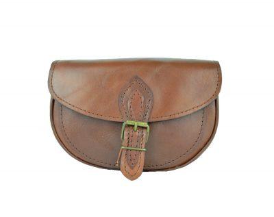 Kabelka kožená MINI v hnedej farbe, mini kabelka (1)