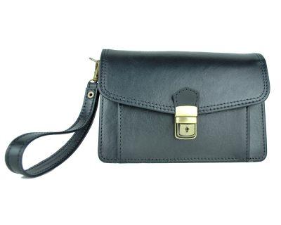 Luxusná kožená etua č.7883, viacúčelové púzdro v čiernej farbe (5)